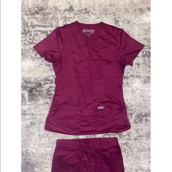Grey's Anatomy Magenta Uniform Set